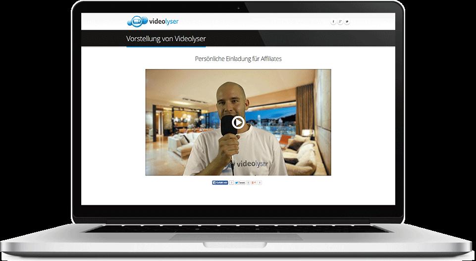 Individuelle SEO Video Landingpage mit Laptop Hintergrund