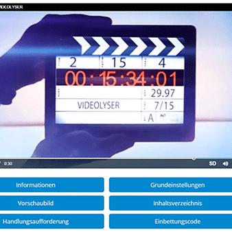Der Bereich um dein Video zu bearbeiten