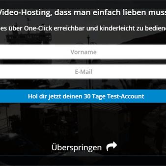 E-Mail Eintragungsformular direkt im Video