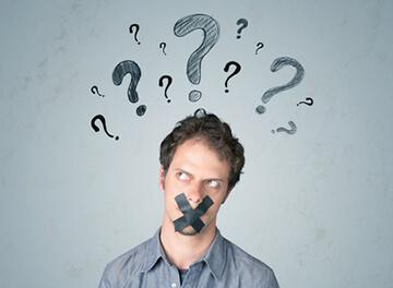 Sein Video Hosting Account wurde gelöscht: diesem jungen Mann wurde der Mund zugeklebt, damit er nichts mehr sagen kann.