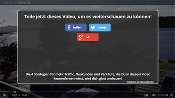 Box mit Social-Buttons direkt im Video