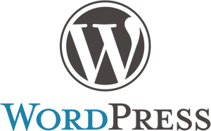 Grau-blaues WordPress Logo